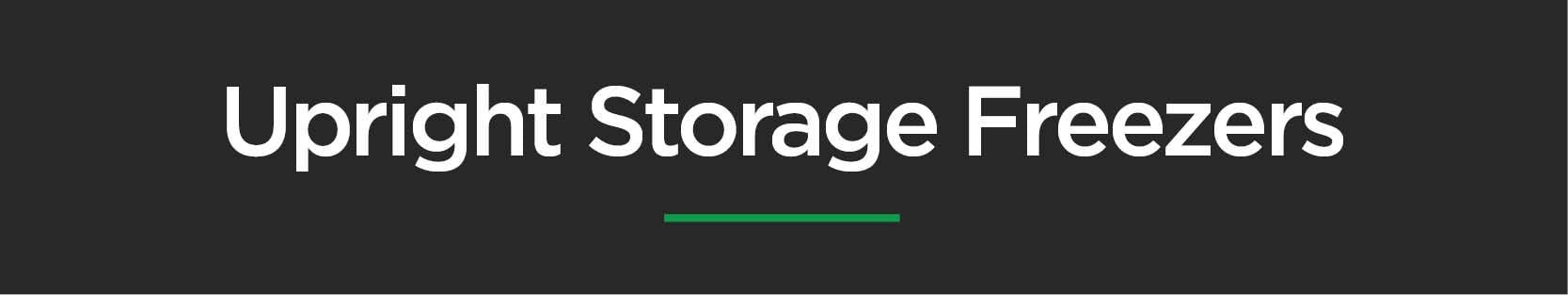 Upright Storage Freezers
