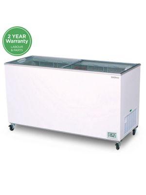 CF0500FTFG Flat Glass Top 491L Display Chest Freezer