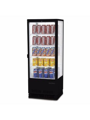 CT0100G4B Flat Glass 98L LED Countertop Beverage Chiller