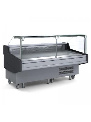 Square Deli Glass Display - 2000mm