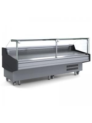 Square Deli Glass Display - 2500mm