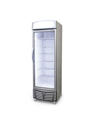 Upright Display Freezer with Lightbox LED Flat Glass Door 440L UF0440LS