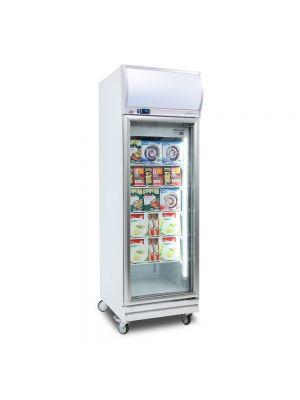 UF0500LF Flat Glass 444L LED Upright Display Freezer