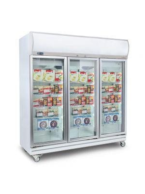UF1500LF Flat Glass Door 1507L LED Upright Display Freezer