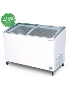 CF0400ATCG Angled Glass Top 350L Display Chest Freezer